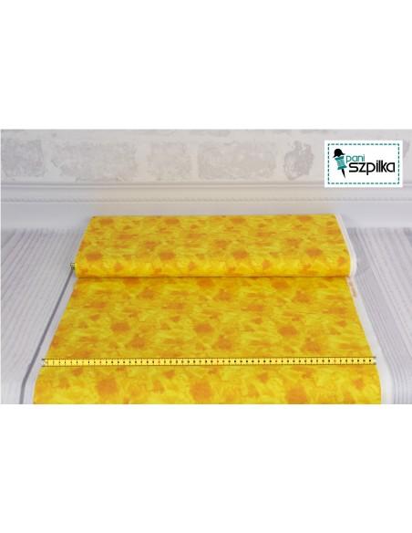 Tkanina bawełniana Yellow Water Texture