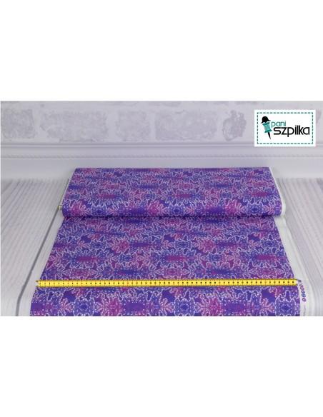 Tkanina bawełniana Purple Bubbles
