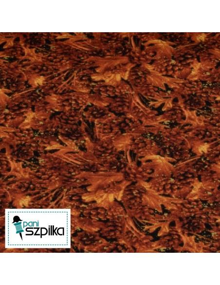 Tkanina bawełniana Burnt Pinecones