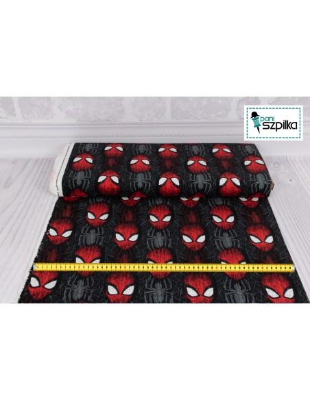 Tkanina bawełniana Marvel Spiderman Head Toss