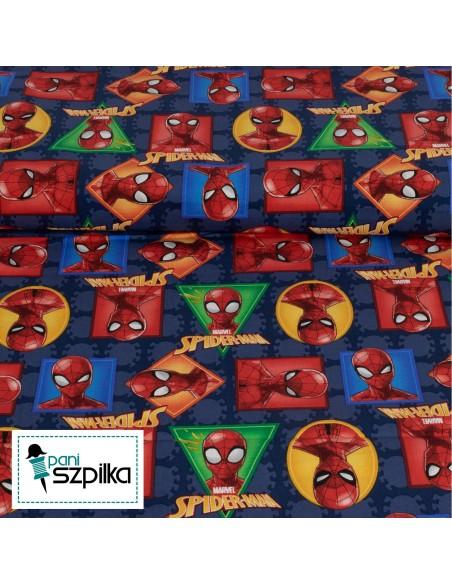 Tkanina bawełniana Marvel Spiderman Badge