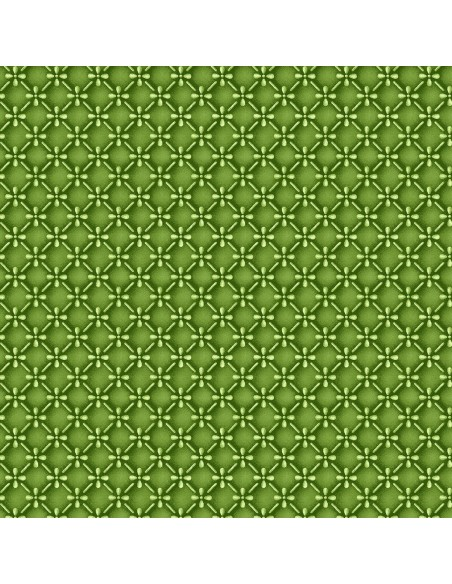 Tkanina bawełniana Green Dimensional Geo