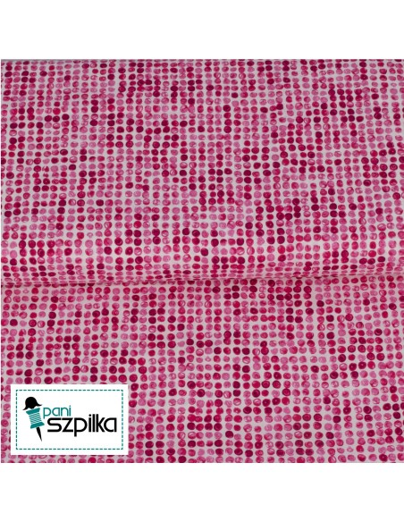 Finger Painted Floral Pink Dot Windham cotton fabric