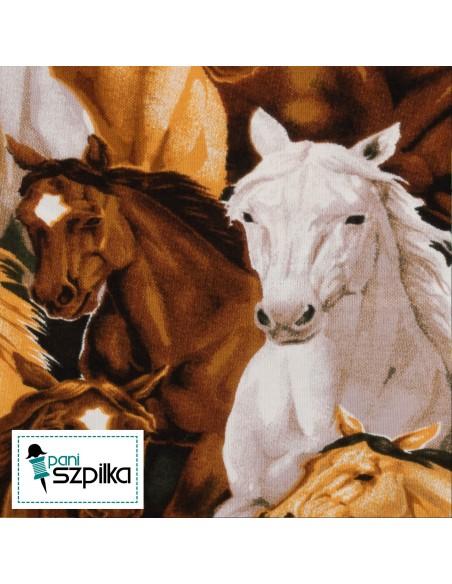 Tkanina bawełniana Multi Allover Horses
