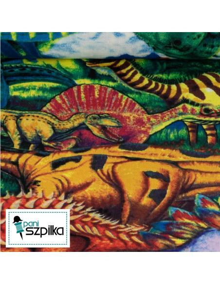 Tkanina bawełniana Multi Age of the Dinosaurs