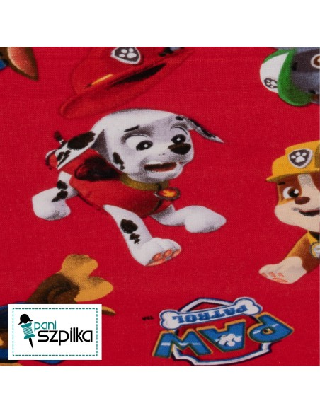Tkanina bawełniana Psi Patrol Red Toss