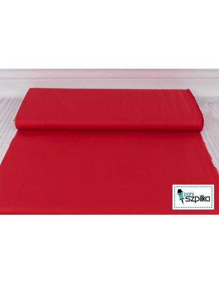 Tkanina bawełniana Kona Red czerwona