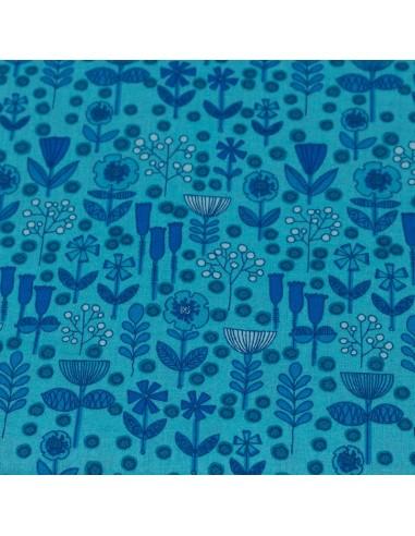 Blue Blenders 6 tkanina bawełniana w kwiaty