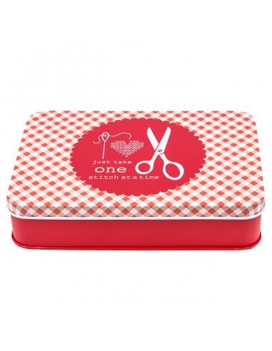 Pudełko z karteczkami czerwone by Lori Holt