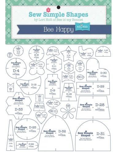 """Zestaw 33 szablonów """"Bee Happy"""" Lori Holt"""