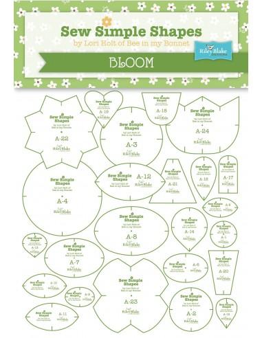 """Zestaw 24 szablonów """"Bloom"""" Lori Holt"""