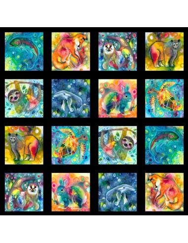 Panel bawełniany Multi Animals
