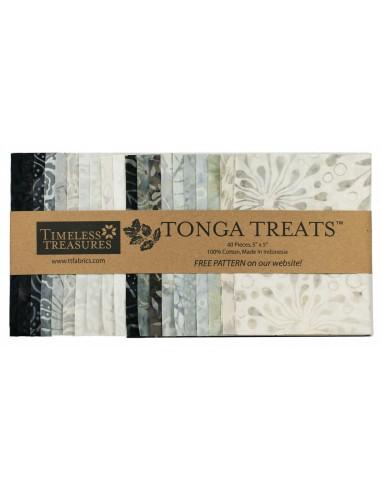 Charm Pack Tonga Batik Graphite 40 szt.