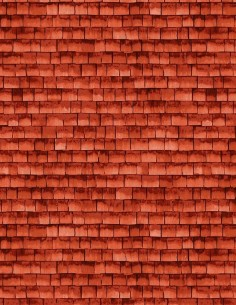 Cotton fabric Red Shingle