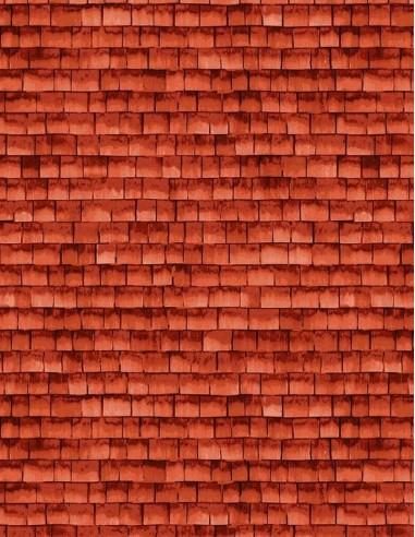 Tkanina bawełniana Red Shingle