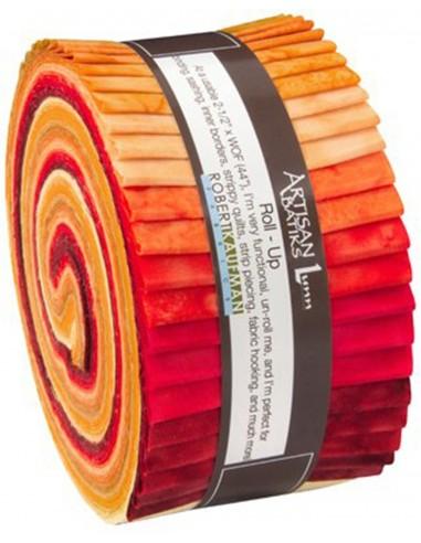 Jelly Roll Prisma Dyes Lava Flow Batik 40 szt.