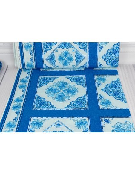 Panel bawełniany Blue Blocks