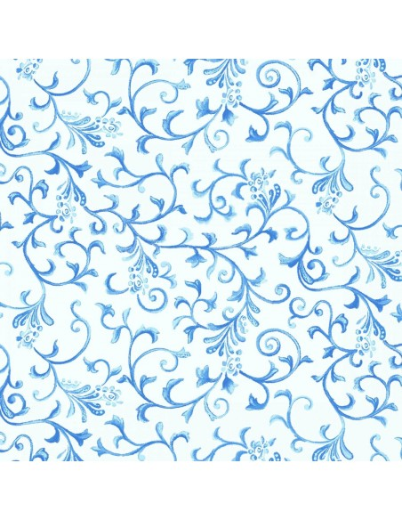 Tkanina bawełniana Light Blue Vine
