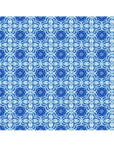 Tkanina bawełniana Blue Mini Tiles
