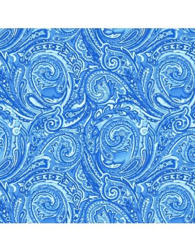 Tkanina bawełniana Blue Paisley