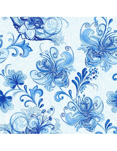 Tkanina bawełniana Light Blue Large...