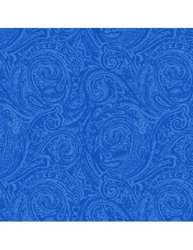 Tkanina bawełniana Blue Two Tone Paisley