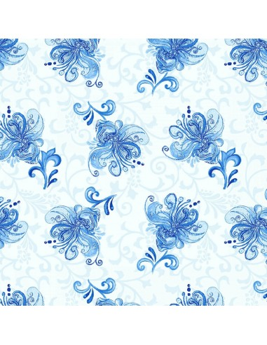 Tkanina bawełniana Light Blue Small...