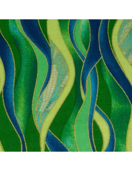 Tkanina bawełniana Emerald Dancing Waves