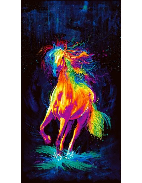 Panel bawełniany Painted Horse Black