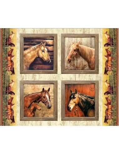 Panel bawełniany Hold Your Horses