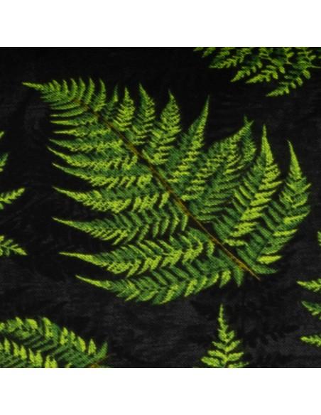 Tkanina bawełniana Black Fern Leaves