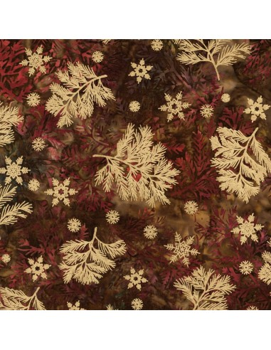 Tkanina bawełniana Forest Northwoods Batik Metallic