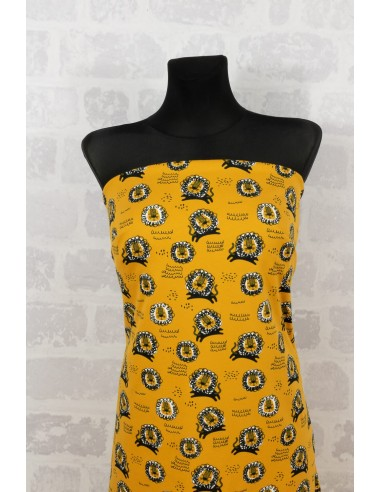 Knit printed jersey lions