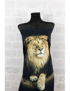 Panel dzianinowy 150 cm dżersej lwy