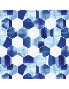 Nature Walk Indigo: Hexagon...
