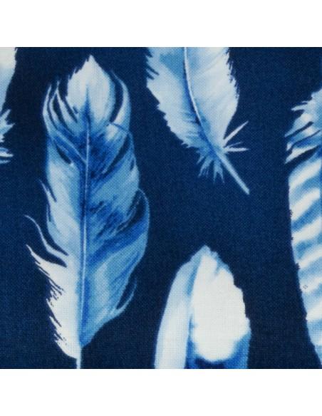 Tkanina bawełniana Indigo Feathers