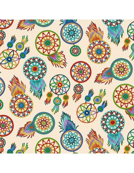 Tucson Dream Catcher Elizabeths Studio cotton fabric
