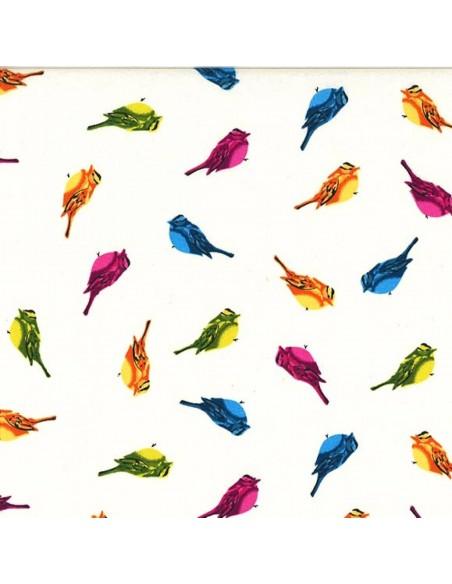 Rainbow Little Love Doves Lovey Dovey Michael Miller cotton fabric