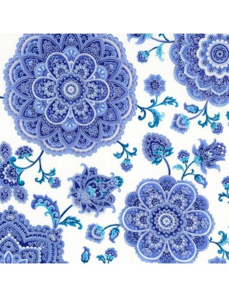 Tkanina bawełniana Cream Main Floral