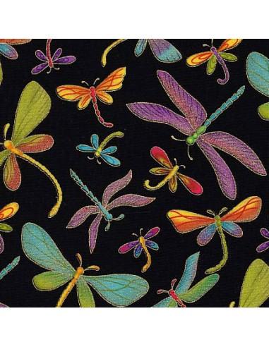 Butterflies Black Dragonfly Metallic...