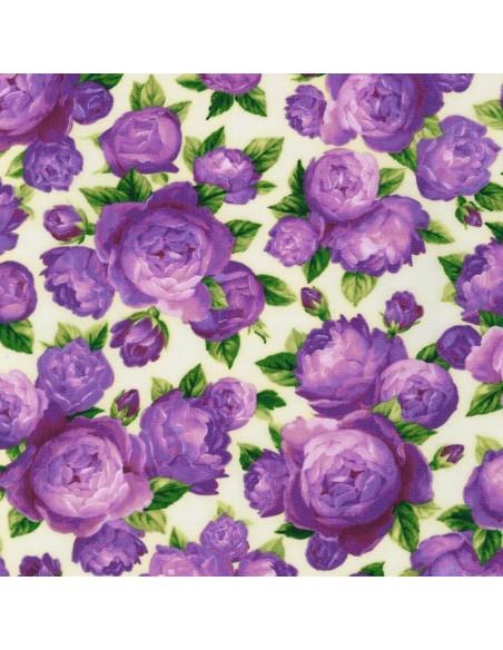 Florentina Rose Ivory Rose Bouquet Robert Kaufman cotton fabric