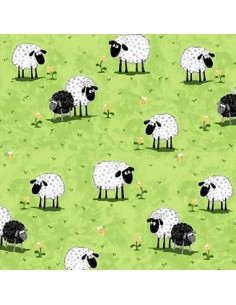 Green Sheep on Grass...