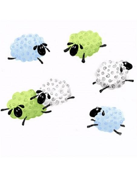 Tkanina bawełniana White Sheep All Over
