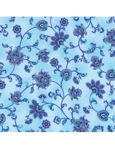 Tkanina bawełniana Mist Floral Vine