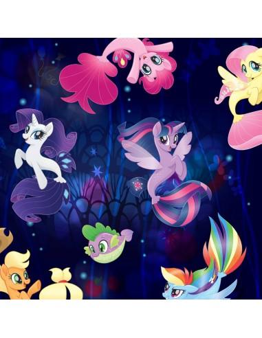 Tkanina bawełniana Kucyki Pony Faraway Adventure