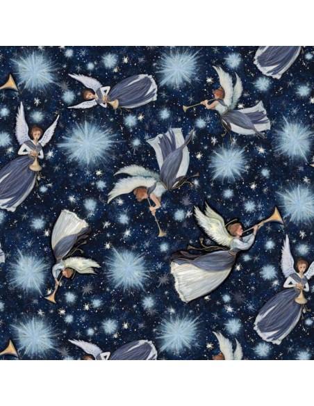 Tkanina bawełniana Christmas Nativity Angel Star Toss