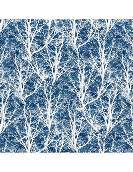 Tkanina bawełniana Blue Bare Trees