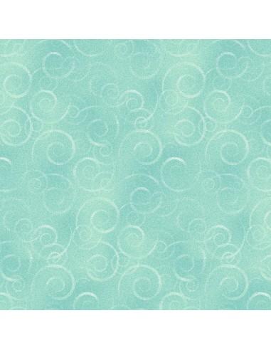 Tkanina bawełniana Sky Blue Swirl Wool