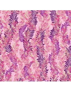 Pink Jeweled Ferns Metallic...