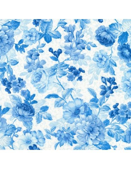 Mayfield Light Blue Floral Robert Kaufman cotton fabric floral